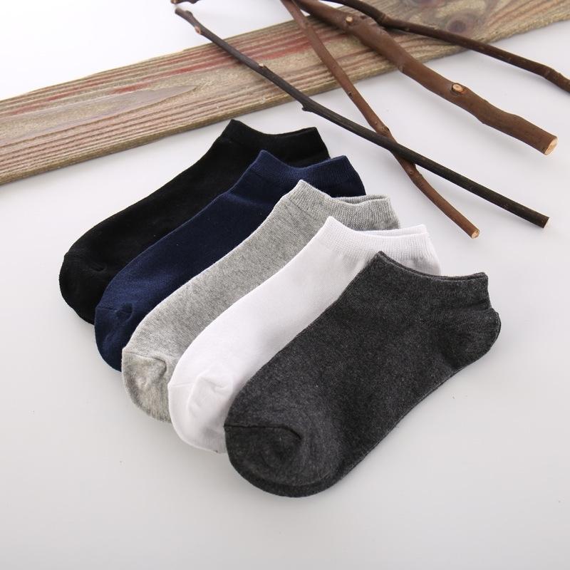 Носки высококачественные черно-белые очень мужские лодыжки 100% хлопок