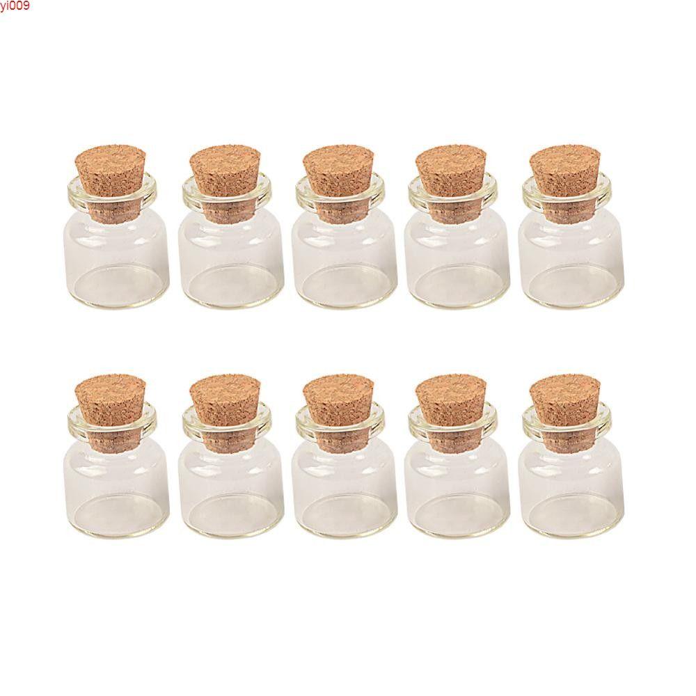 زجاج زجاجات زجاجية 5 مل مع الفلين سدادة شفافة مصغرة الجرار قارورة متمنية صغيرة 22 * 30 * 12.5 ملليمتر 100pcs شحن schippingjars