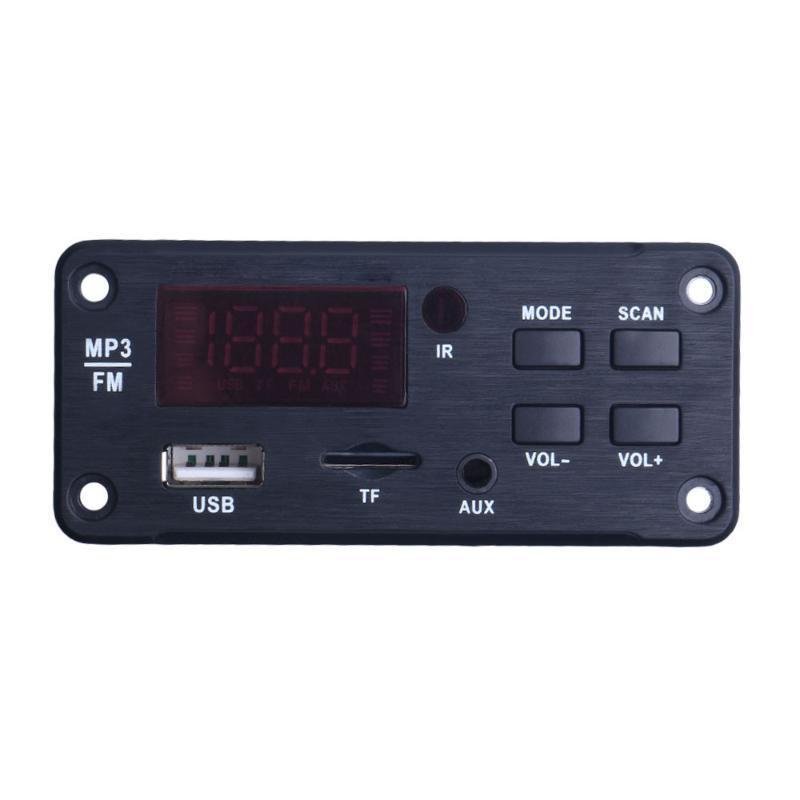& MP4 Players Wireless Bluetooth-Compatible 5.0 MP3 WMA Decoder Board Audio Module Support USB TF AUX FM Radio Car Accessories