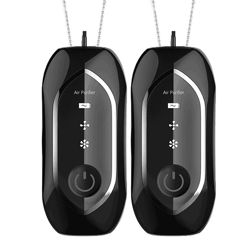 Purificatori d'aria 2 PCS Mini Purificatori con scollo appeso, Elegante collana portatile indossabile per la collana portatile Generatore ionico negativo