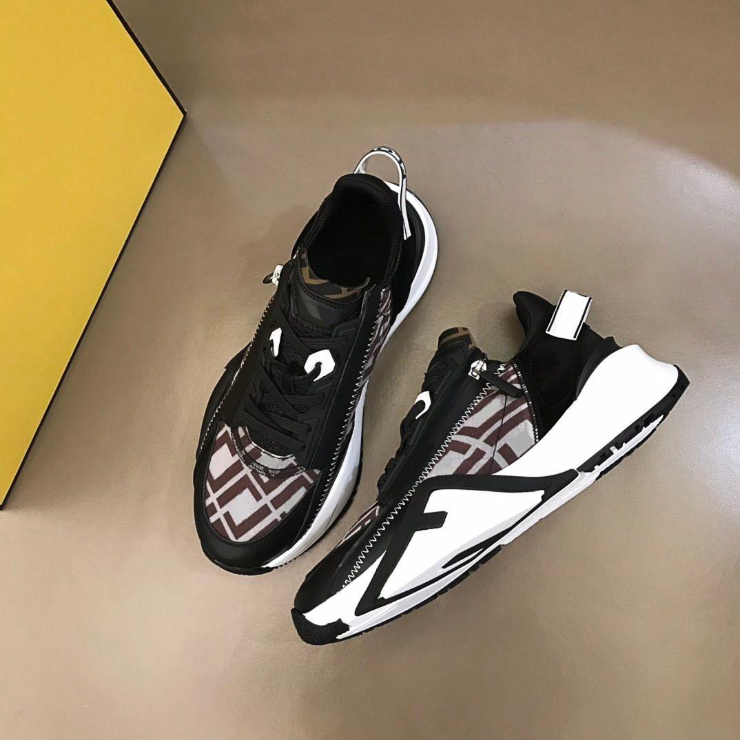 En Kaliteli Ayakkabı Lüks Tasarımcı Erkekler Elastik Askıları, Yan Fermuarlar ve Kutu Ile Sneakers Giymek Sneakers38-45