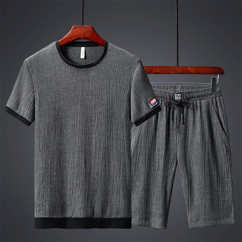 Tasarımcı Lüks erkek Kaliteli Eşofman Yaz Erkek 'Kısa Kollu Spor Büyük Rahat Şort Takım Elbise Moda Marka Ins Korece T-S