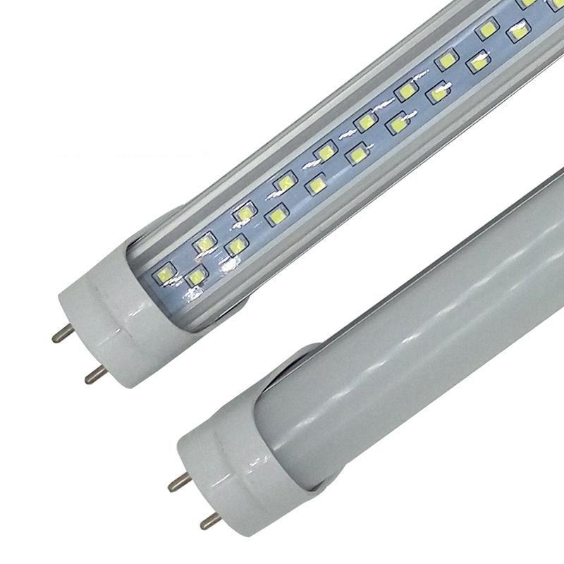28W 4FT T8 G13 LED 튜브 조명 더블 행 LED 형광 튜브 빛 192PCS SMD 2835 AC 85-265V