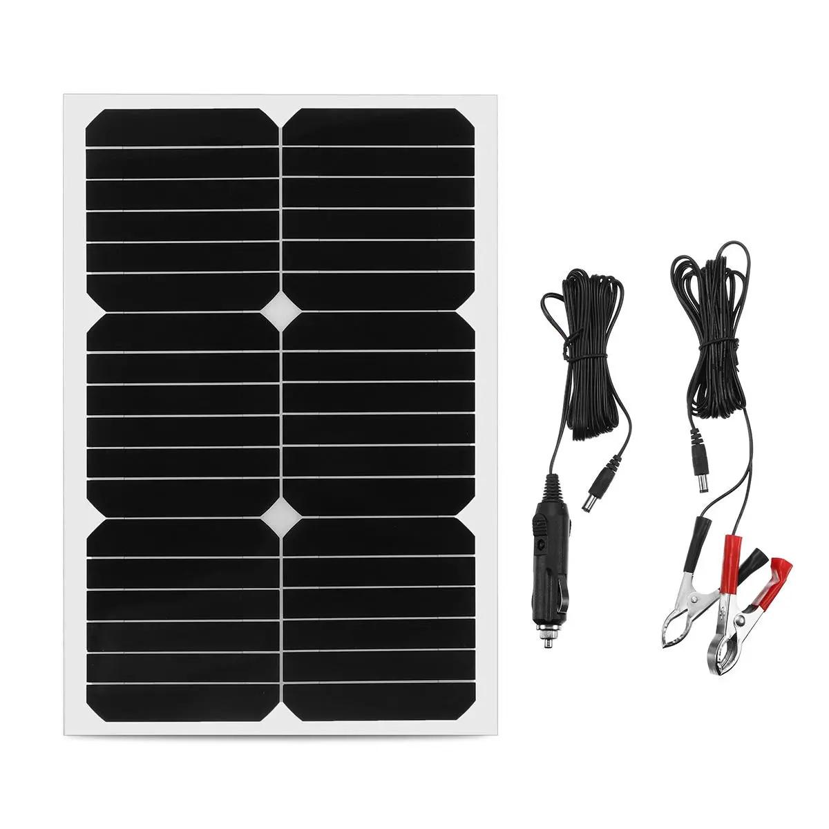 W / 자동차 보트에 대 한 20W 12V 모노 세미 유연한 태양 전지 패널 배터리 충전기