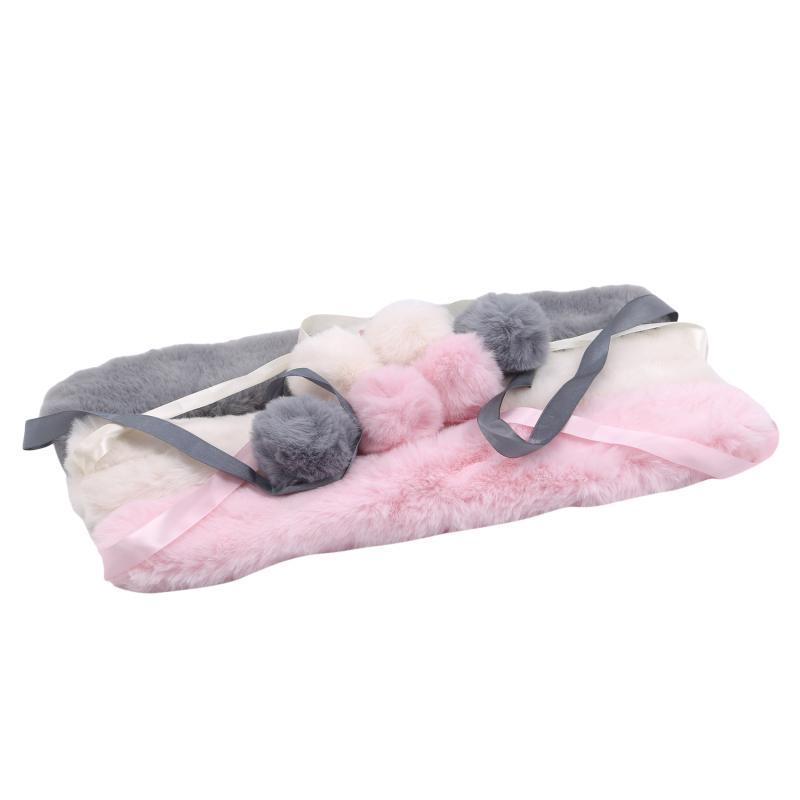 Scarves 3 Colors 50CM*10CM Winter Warm Faux Fur Collar Women Scarf Coat Luxury Raccoon Neck Warmer Shawl