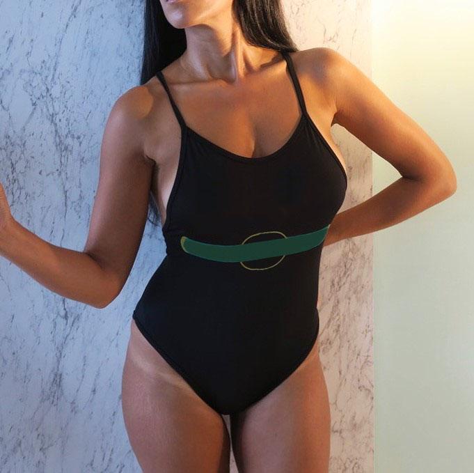 Womens 수영복 원피스 섹시한 해변 비키니 여름 분할 수영복 패션 편지 인쇄 얇은 어깨 스트랩 스타일 여성 비키니 2021