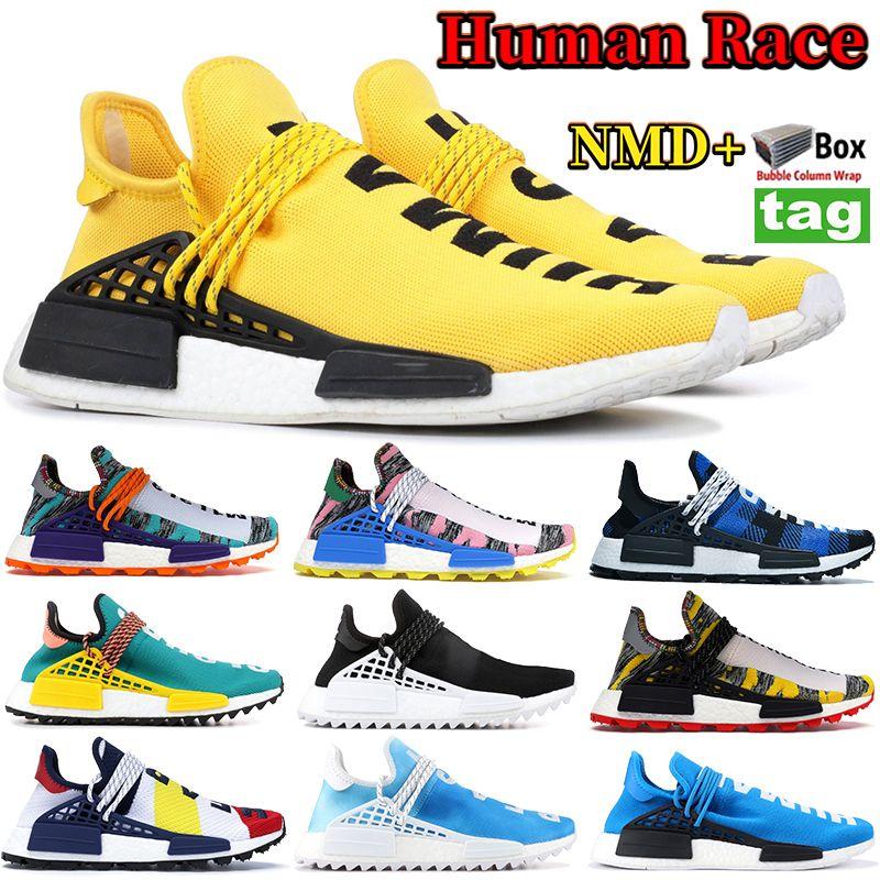 NMD Yellow BBC Peace HUMAN RACE Pharrell Williams Uomo Donna Designer Scarpe Confezione solare Madre Ispirazione Confezione scarpe da ginnastica con scatola