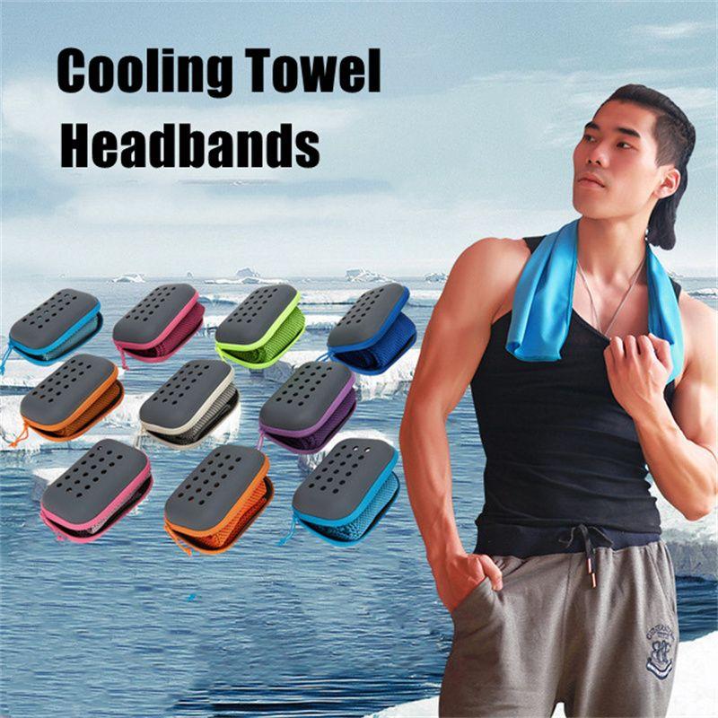 Kühltuch Mikrofaser Yoga Sporttücher Hohe Qualität Stoff Atmungsaktiv Schnelltrockner Tuch Individuelles Paket Tragbare Stirnbänder A02