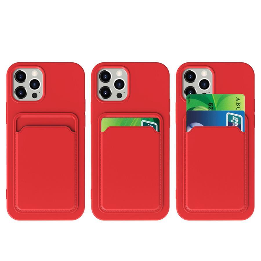 Степени сотового телефона стыкожие Matte TPU для iPhone 6 8 x 11 12 Pro Max Samsung S20 21 Fe A21S A22 A82 Moto G Play 2021 LG Stylo 7 5G Полное тело Защитная задняя крышка с слотом для карты