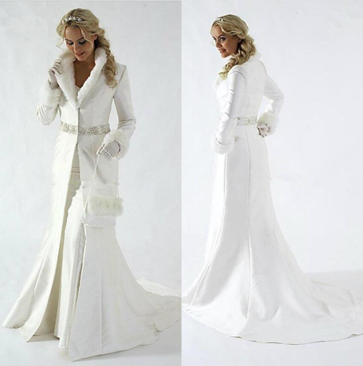 Элегантные женские женские одежды свадебные куртки ослабесы шеи свадебные обертки с длинным рукавом женщин зимние пальто для свадьбы болеро пальто плюс размер накидки