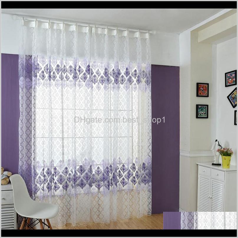 Vorhangvorhänge 100200cm Schön für Wohnzimmer Blume Totem Tüll Bildschirme Sheer Voile Vorhänge TRAPE PANEL Window Decor XYOGE VOYKT