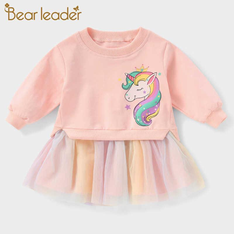 Bear Leader Girls Lace Elegant Dresses Fashion Autumn Party Costumes Children Princess Outfits Sweet Vestidos 3 7 Years 210708