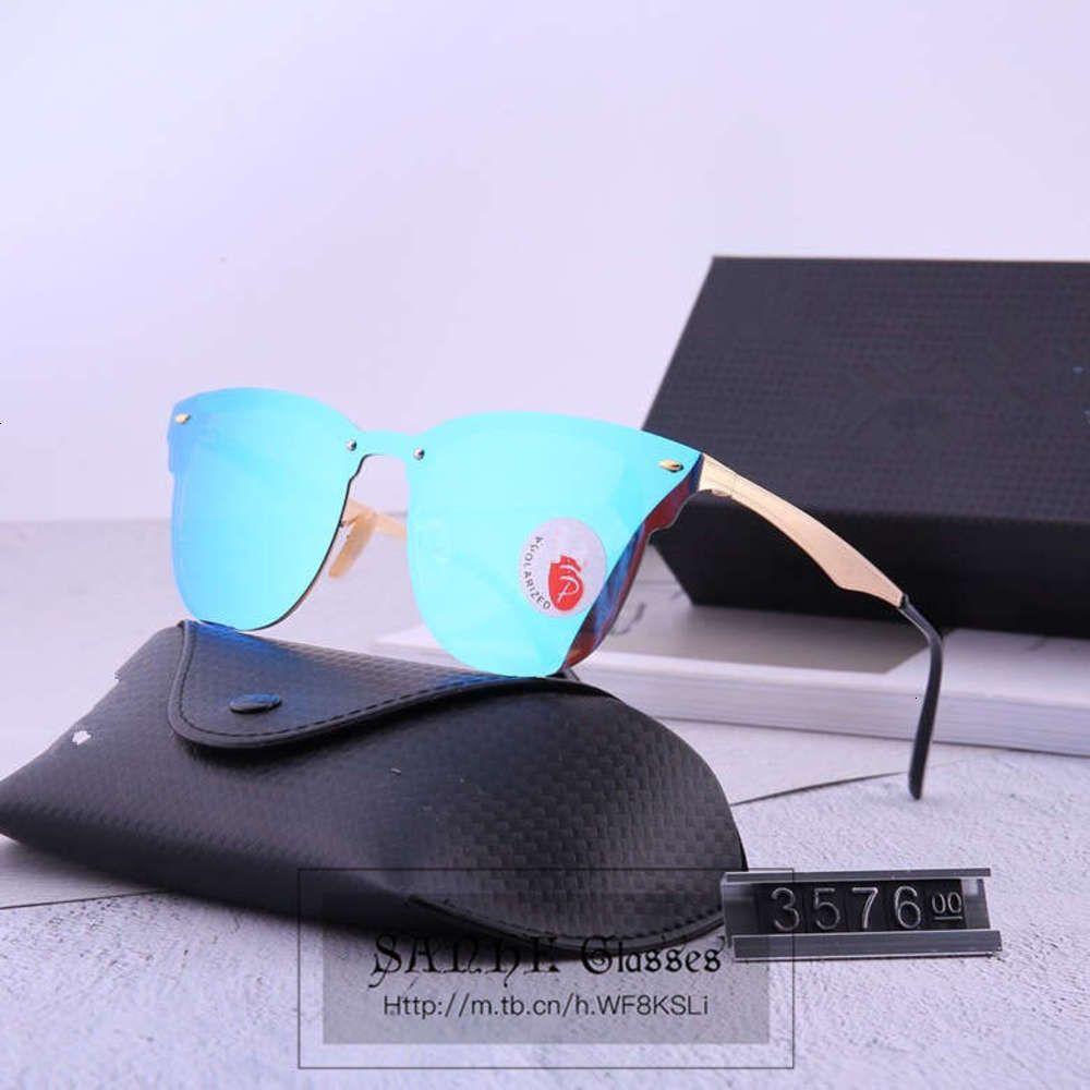 Для солнцезащитных очков поляризованные корейские безрамные моды мужские и женщины Общие очки Trend Trend R.B3576
