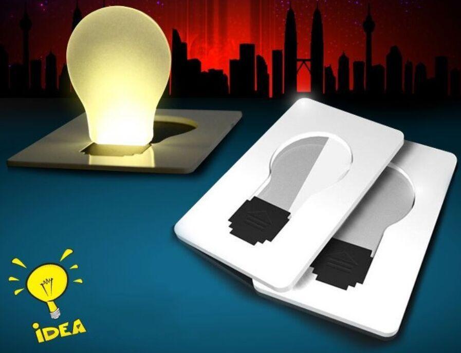Design Mini Wallet Size Portable Pocket LED Card Light Lamp Night Novelty Battery Powered