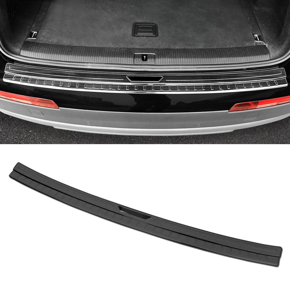 Pour Audi Q7 4M 2016-2019 Carré en acier inoxydable porte pare-chocs Porte-tache Fender Pad protecteur SILL Cover Cocher Cadre Cadre Sticker moulage