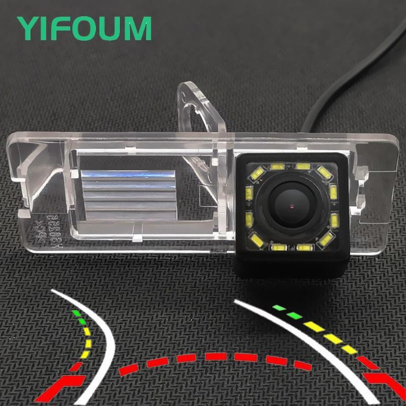 Faixas de trajetória dinâmica Câmera de vista traseira do carro para Fluence Espace Megane 3 Dacia Logan 2 Trafic Laguna Símbolo Câmeras Estacionamento Sensor Sensores