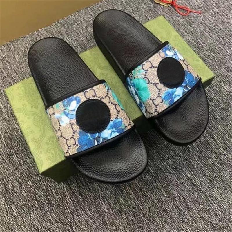 2021 Herren Frauen Hausschuhe Echtes Leder Sandalen Sommer Strand im Freien Urlaub Gummi Flip Flops Mädchen Slipper Box 36-46