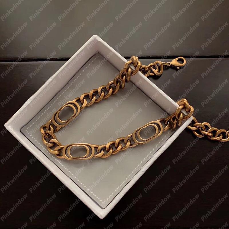 سلاسل القلائد النساء المختنق 30 montaigne قلادة رجل مصمم مجوهرات الرجال المصممين المصممين الذهبي ربط سلسلة قلادة الفولاذ 2104143L
