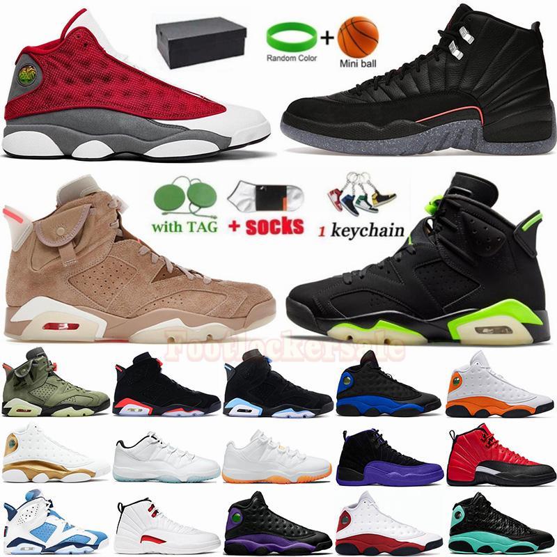 클래식 jumpman 6 전기 녹색 6S 농구 신발  British Khaki 13S 레드 플린트 회색 하이퍼 로얄 망 스포츠 운동화 트레이너