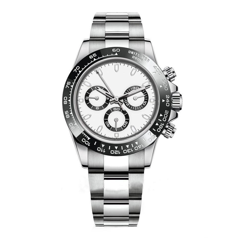 Erkek U1 İzle Tasarımcı İzle Montre De Luxe Otomatik Saatler Gümüş Seramik Çerçeve 316L Çelik Acaustable Katlanır Toka