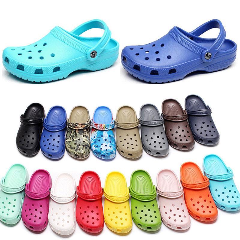 109 여성 패션 슬립 캐주얼 해변 오염 방수 신발 남성 클래식 간호 Clog 병원 여성 슬리퍼 작업 의료 샌들