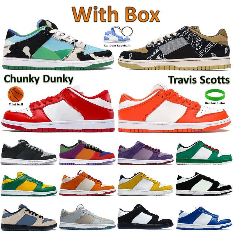 مع مربع أعلى الأحذية كرة السلة دونك مكتنزة تحت رشم كاكف الظل الأسود الأبيض الكلاسيكية الأخضر كنتاكي عيد الحب الرجال النساء أحذية رياضية