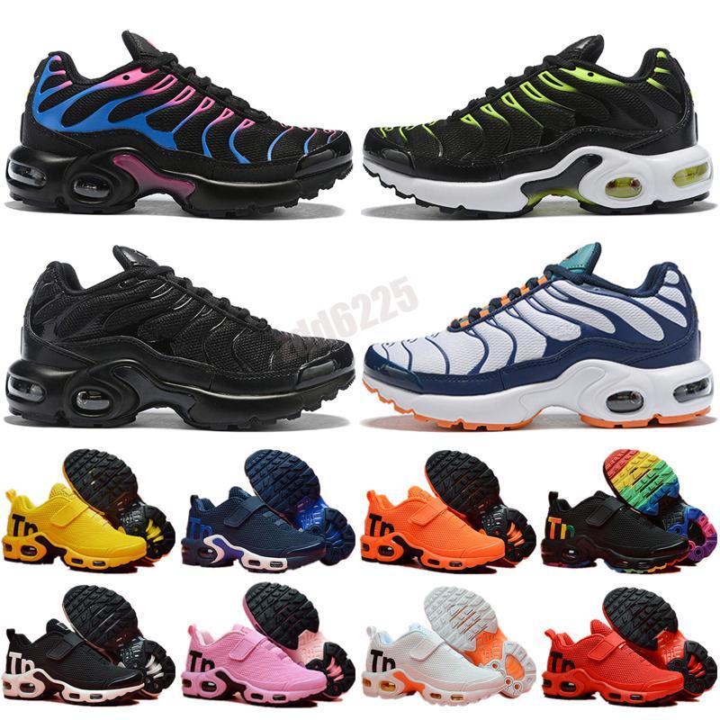 Sale TN Plus Mens Kids Shoes Pink Sea Triple Black White Red Voltage Purple USA Lemon Lime Bumblebee Be True Trainers Sports Sneakers