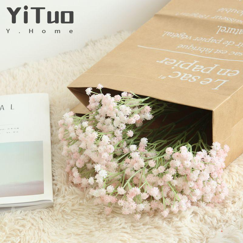 YiTuo Baby Soft Artificial Flowers Home Decoration Bouquet Wall FlowersMW53460 Decorative & Wreaths