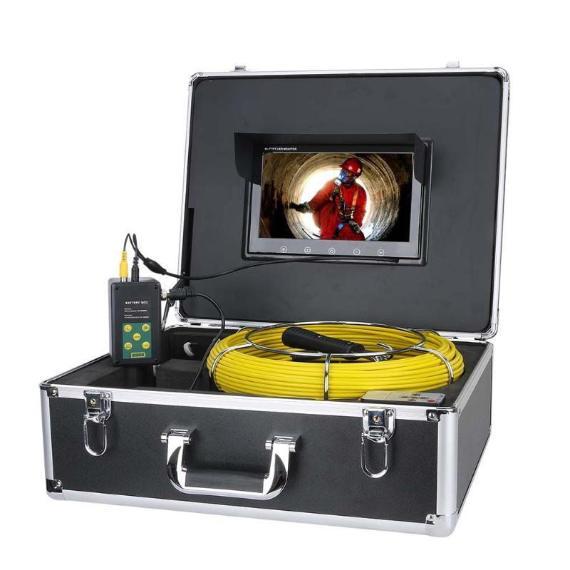 Cámara giratoria de grado WiFi WiFi Inspección de tubería de 10 pulgadas Video Drenaje Alcantarillado Pipeler Endoscopio Industrial Free DHL IP Cámaras IP