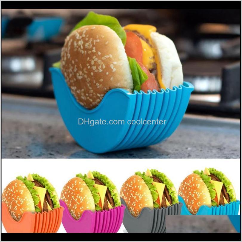 Haken Schienen Lagerung Housekeeping Organisation Hausgarten Drop Lieferung 2021 Sile Burger Halter Sandwich Clip Shell Retractable Wiederverwendbare BU