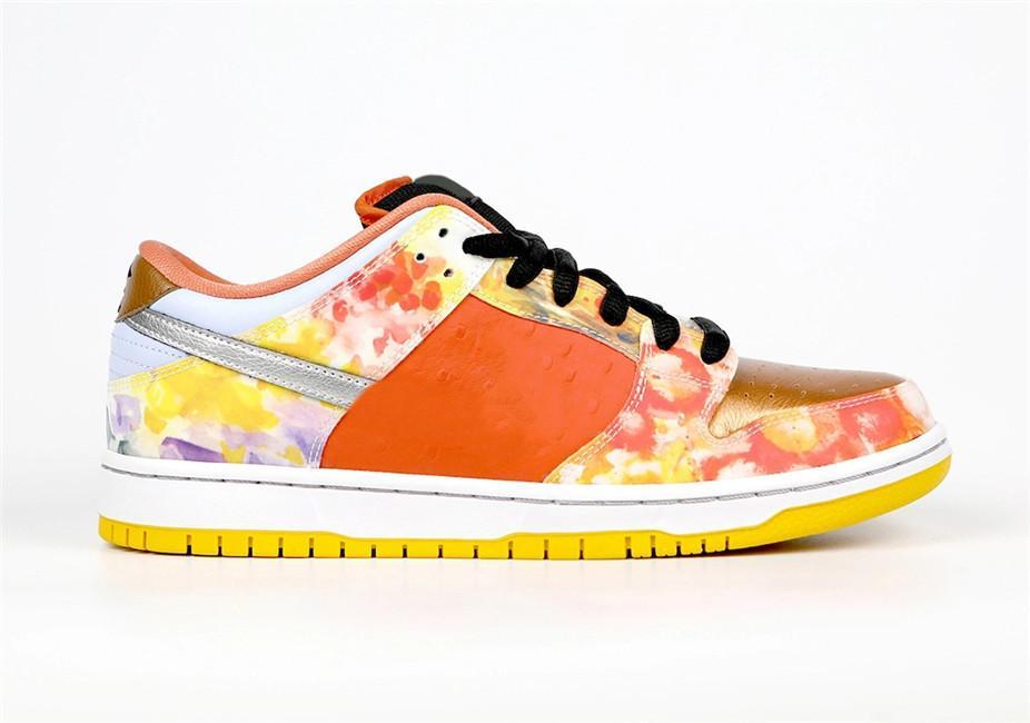 Sapatos S B Dunk Cny Street Hawker Low Tie-Dye Chinês Ano Metálico Luz de cobre Pueblo Brown Men Treinadores Esportes