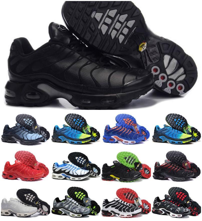الكلاسيكية الهواء زائد رجل tn الجري الأحذية الرياضية TNS طلب chaussures الأزرق الأبيض الأسود الثلاثي og رجل تنفس شبكة الركض المدرب في الهواء الطلق