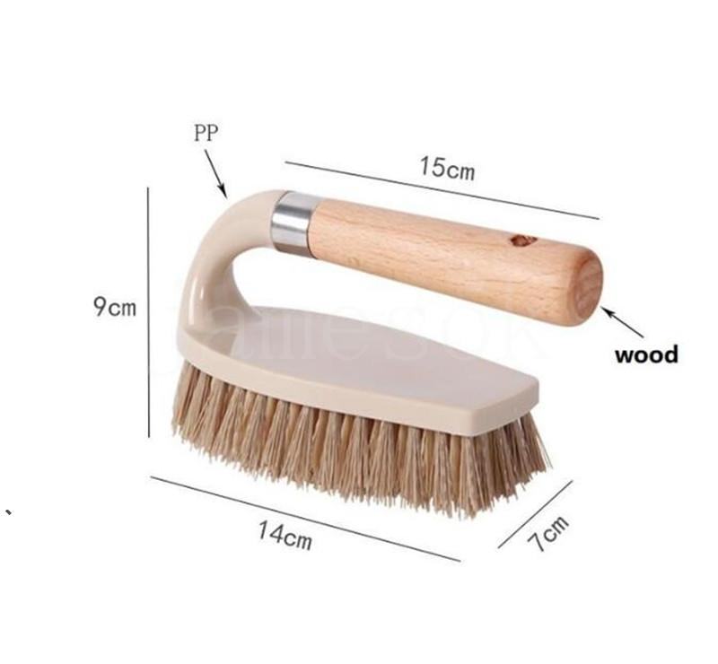Wood Multifunctional Brushes Shoe Kitchen Clothes Dirt Remove Toilet Bathroom Bathtubs Shoes Scrub Brush Tile Floor Tool HHD7673