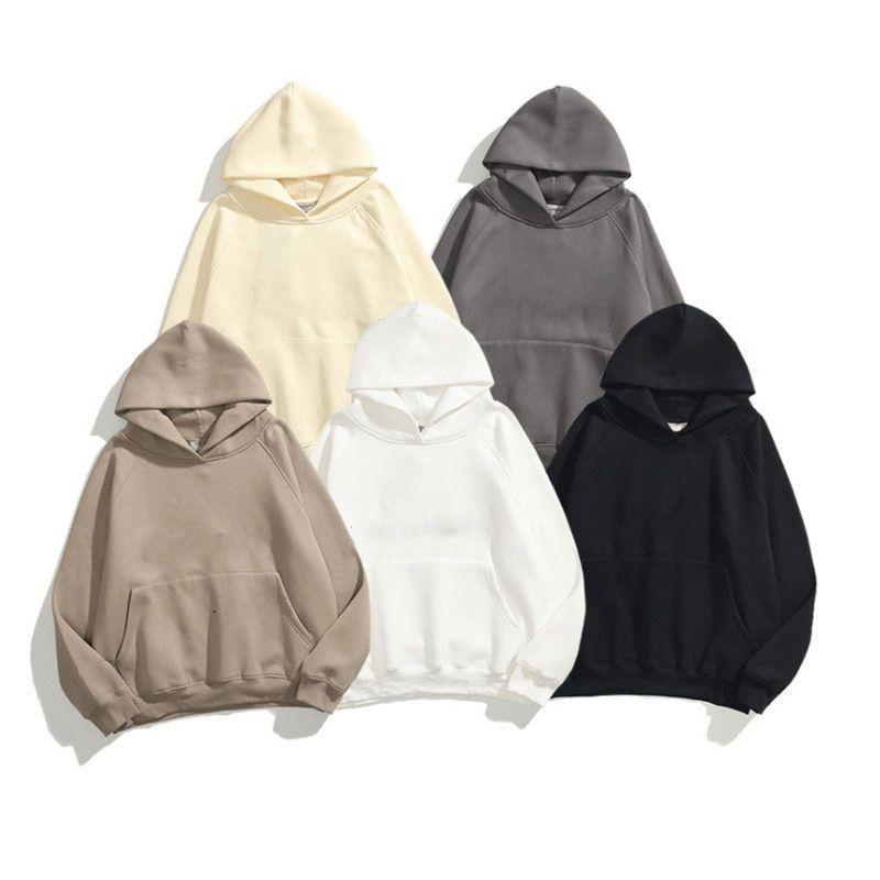 Hoodie Sıcak Kapüşonlu 100% Pamuk Malzeme O-Boyun Kazak Kazak Çeşitli Renk Mevcut Erkek S Giyim S-XL Boyutu