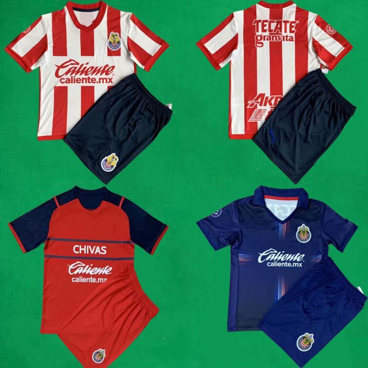 2021 Guadalajara Chivas Fussball Jersey Shorts Home Away Dritter Brizuela Pulido Football Kits Tigres Männer Kinder Hemd Hose Camiseta de Futbol