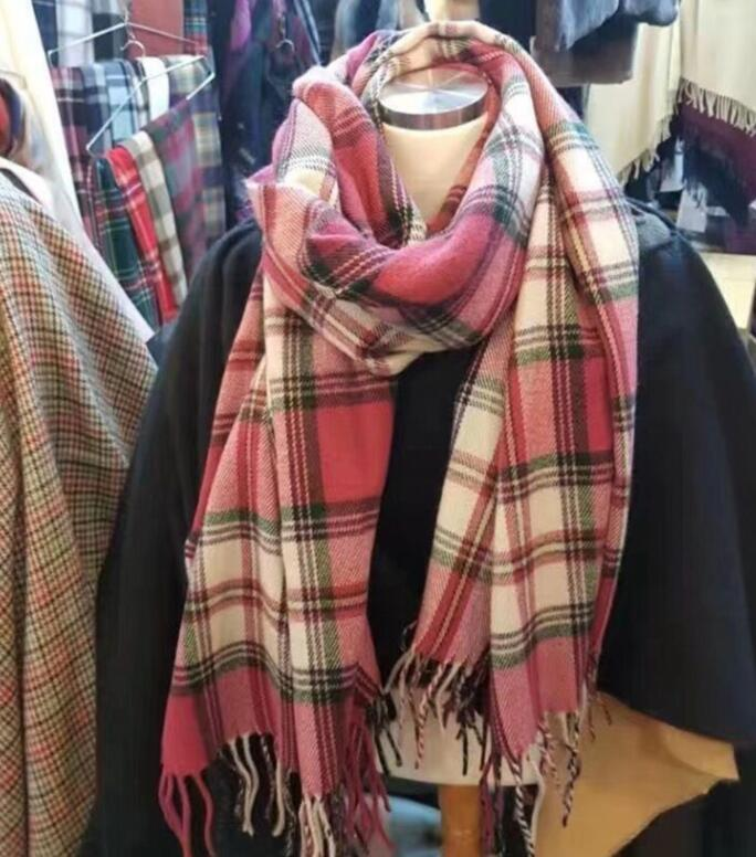 Классическая леди осень / зима кашемировой шарф классический писем плед дизайнерский шаль размер 200 * 70см мужские и вороны Styie 300 грамм кашемировый шарф