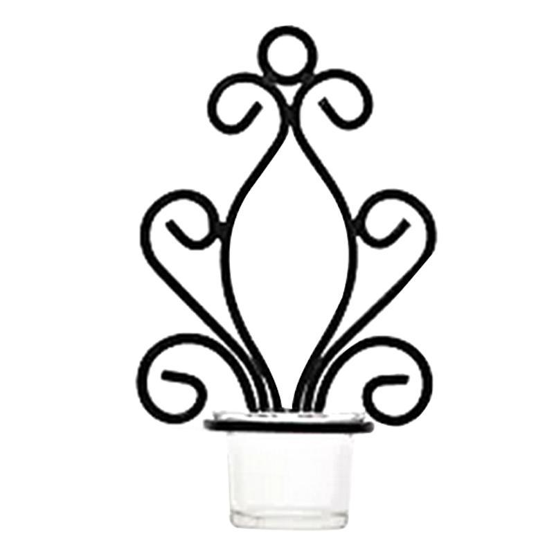 Kerzenhalter 2 stücke Wirbeln europäischen Stil Hängen Hochzeit EL Vintage Wohnkultur Schlafzimmer Candlestick Craft FESTIVAL WALL SCONCE