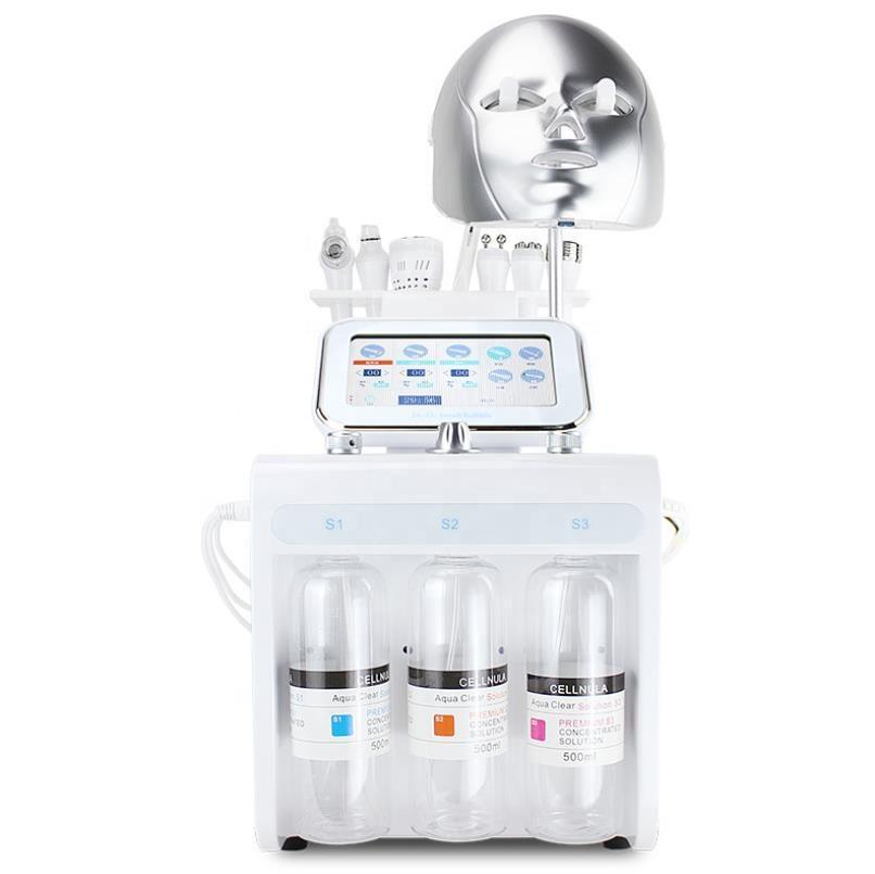 8 in1 face a vácuo limpeza hidromour hydro água oxigênio jato casca máquina acne cravo removedor cuidado pele pequena bolha equipamentos de beleza