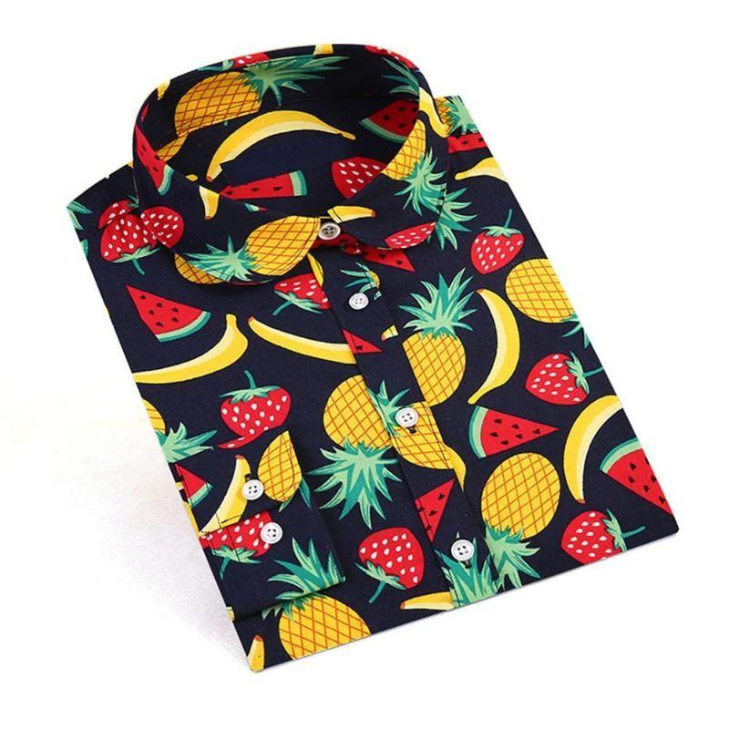 Colored Leaves Printed Blouse Shirt Women Long Sleeve Cotton Work Wear Blouses Black Print Blusa Feminina Navy Top 2021 Clothing Women's & S