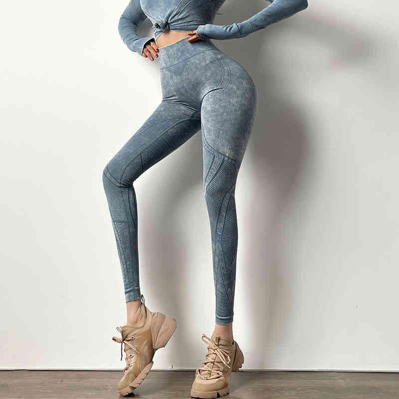 Nahtlose Sporthosen Frauen Laufende Leggings Sweat-Saugfent Schnelltrocknende Fitness-Spurhose Hohe Taille Push Up Gym Gitgings Y0327