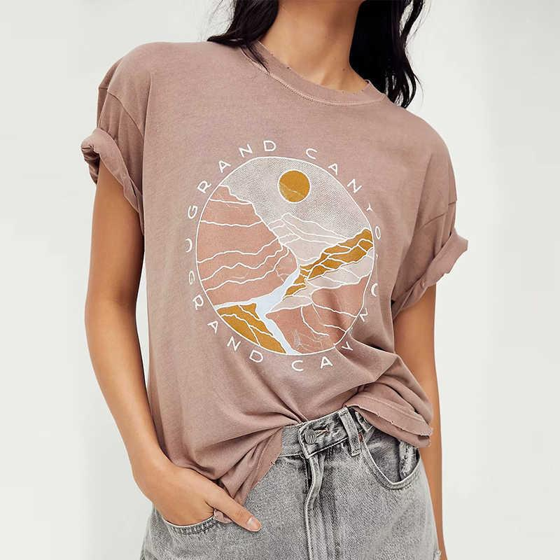 Za frauen drucken baumwolle lose t shirt kurze hülse damen casual tee shirt hochwertige top ldzz6456 210603