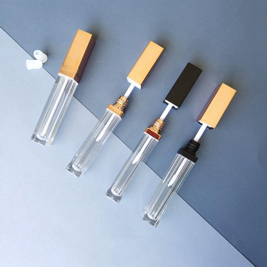 빈 사각형 립 광택 튜브 DIY 투명 입술 가정용 잡화 유약 컨테이너 리필 립글로스 병 5ml RRE6142