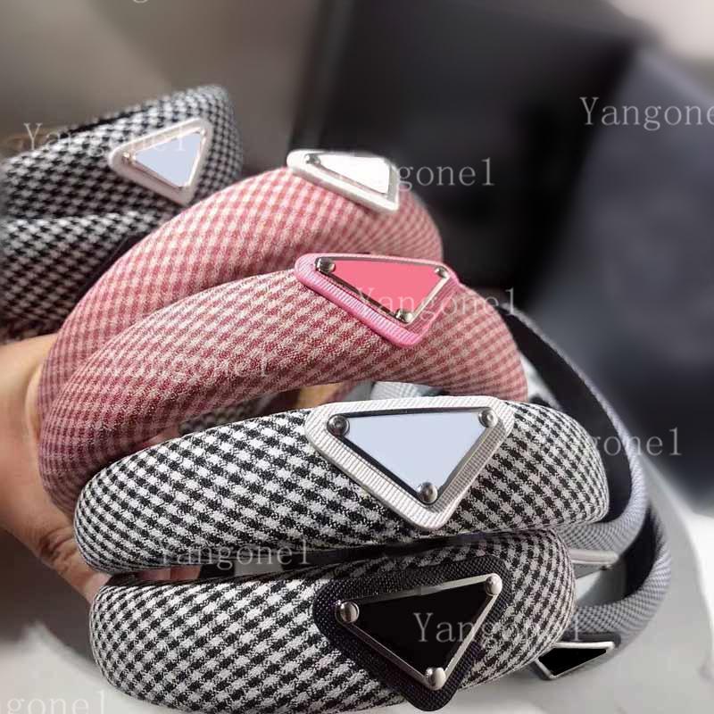 2021 Top Qualität Mode Gitter Dreieck Stirnbänder Mädchen Charme Retro HeadWraps Haarband Headwrap Frau Schmuck Haarschmuck Geschenk