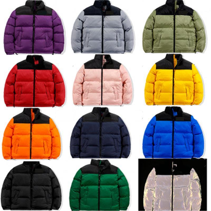 Мужские пуховые куртки Мода Trend Trend Winter с длинным рукавом на молнии пальто дизайнер мужской теплый северный толщиной пальто пары ветровка