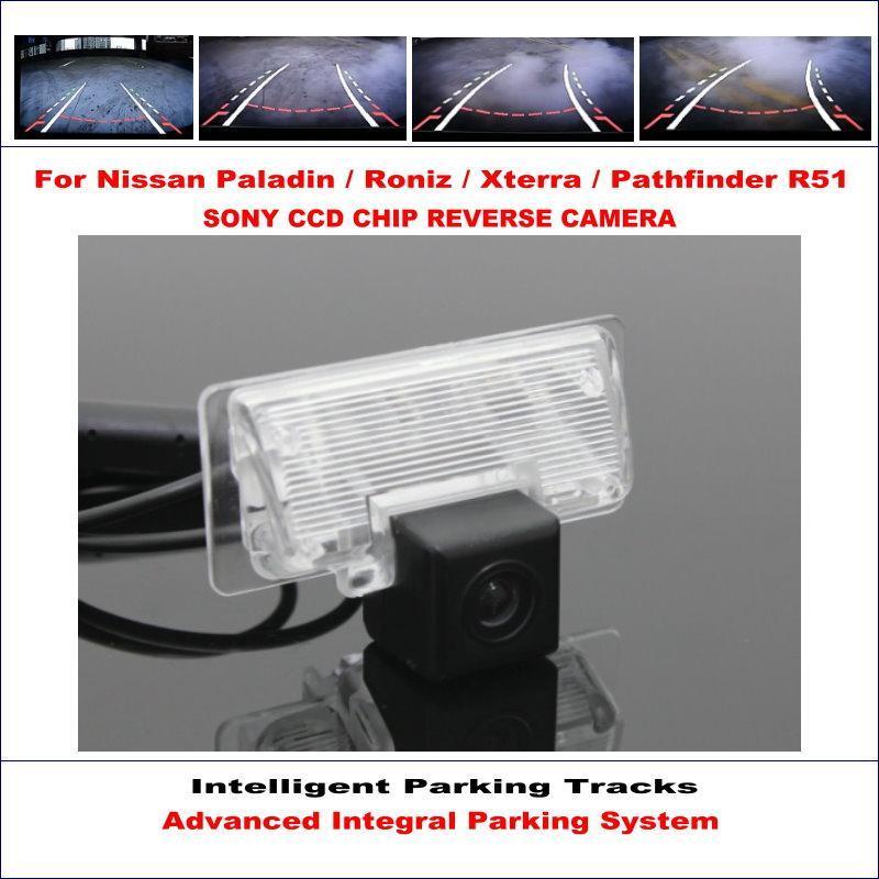 Câmera traseira do carro para Paladin / Roniz / Xterra / Pathfinder R51 / Sylphy G11 Estacionamento Inteligente Orientação Dinâmica CAM Vista Câmeras Sensores