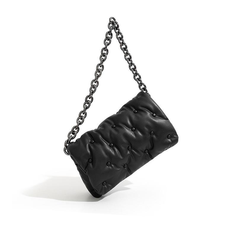 Moda Correntes de Espessura Revit Mulheres Sacos De Ombro Designer Marca Luxo Pu Bolsas De Couro Vintage Denim Messenger Bag Lady Bolsas C0326