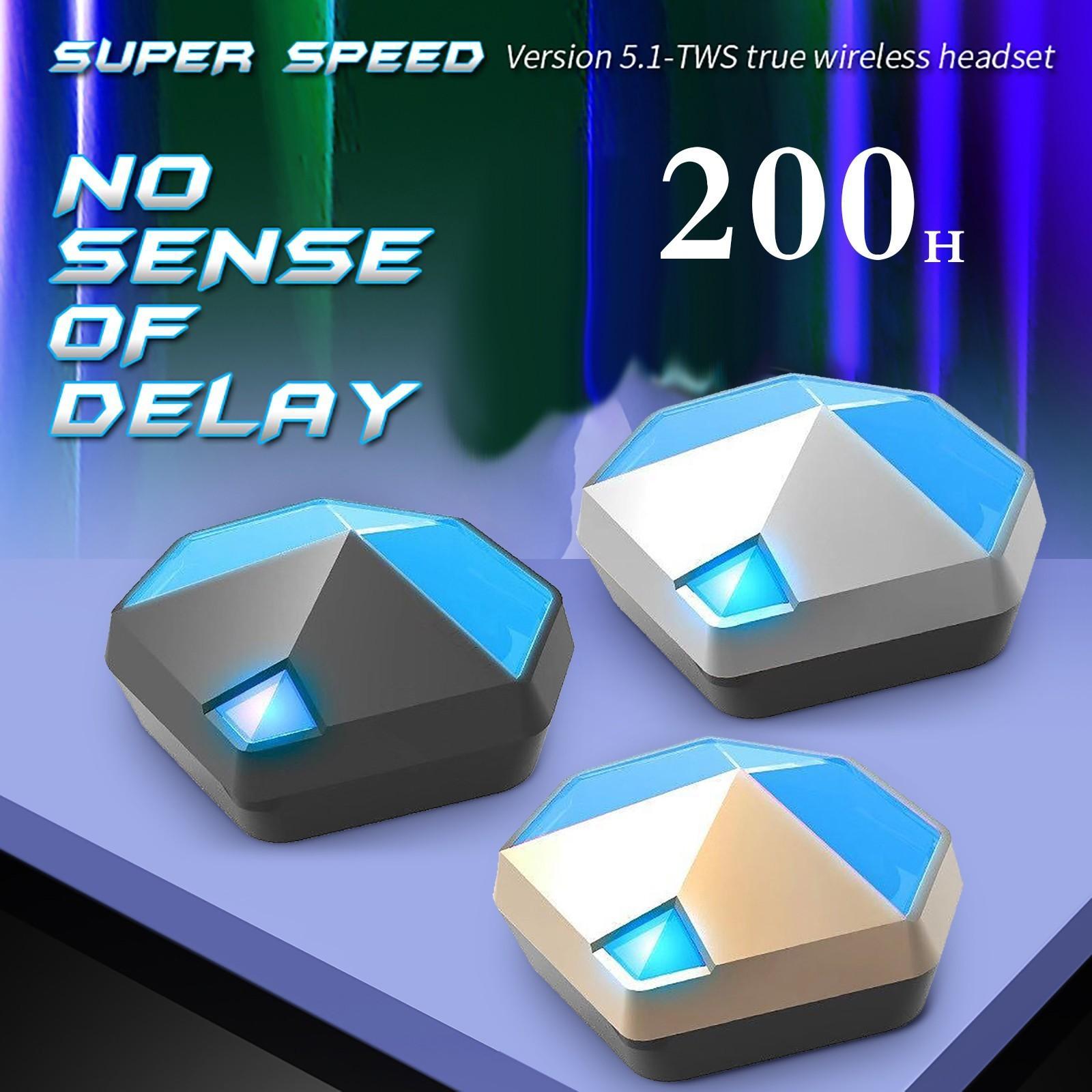 Gm-y01 tws bluetooth gaming fones de ouvido sem fio mini 9d esporte fones de ouvido baixo latência fone de ouvido