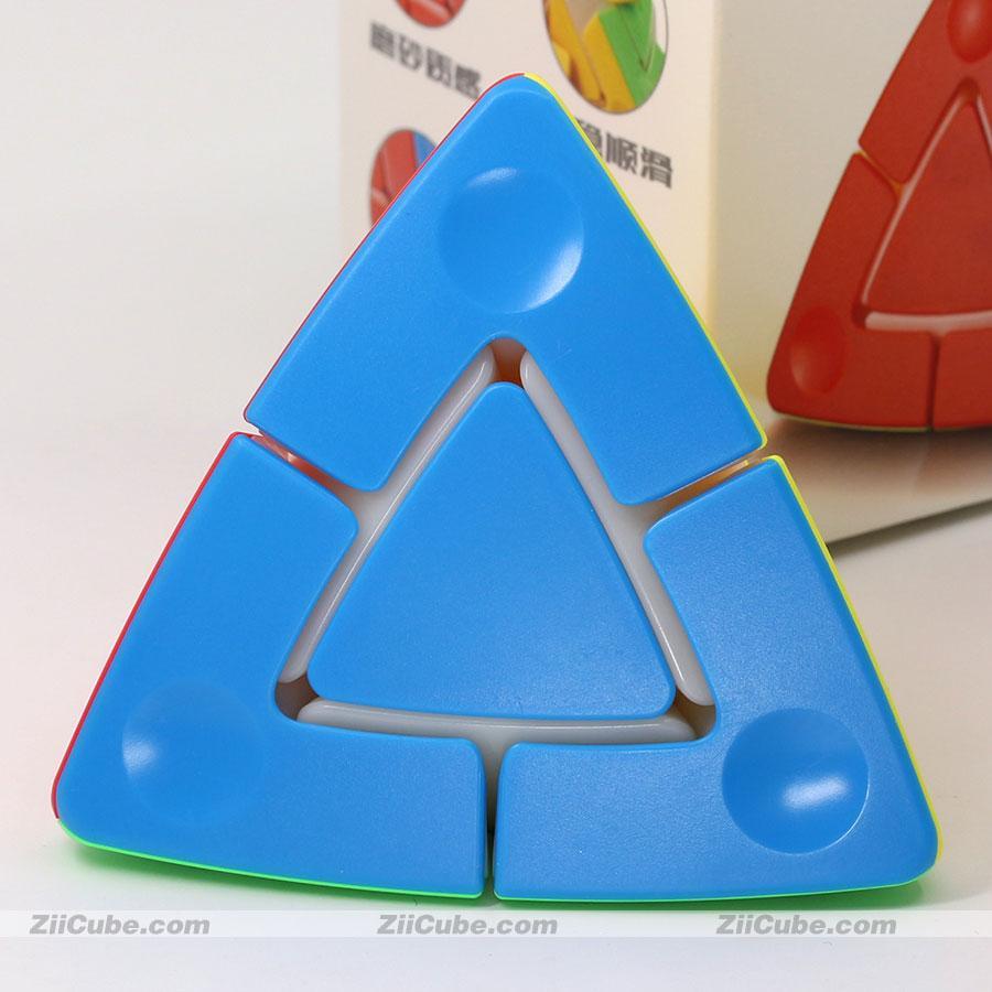 Sengso ماجيك مكعب pyramorphix fanxin مكعب pyuamid 2x2 magic duo tower stickerless 4 الوجوه لغز اللعب المهنية edcuational