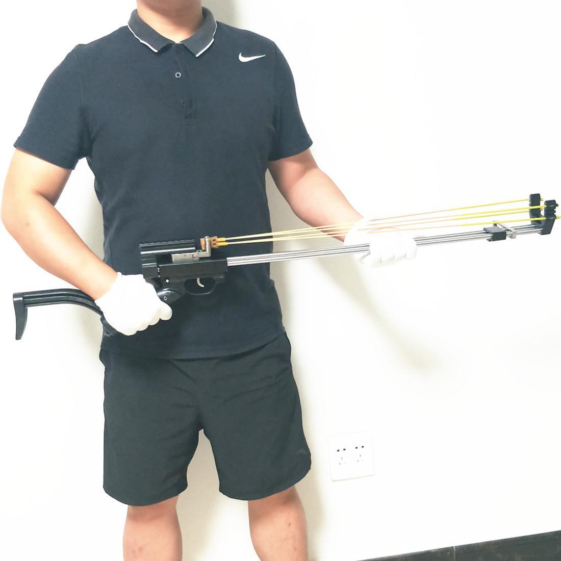 Bobcat- Runting Slingshot Rifle - جهاز أمان مزدوج - إصدار ديلوكس CNC Tech تلسكوبي انزلاق ميكانيكية ميكانيكية X0524