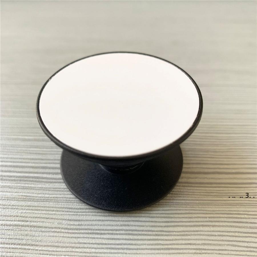 Titular do telefone celular do círculo da notícia com a inserção do sublimação de alumínio da placa do sulco para o suporte personalizado personalizado do suporte do telefone do telefone H EWF549